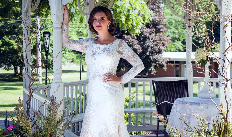 Bride in a gazebo