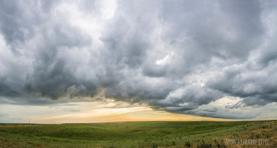 Storms roll over the Flint Hills along Skyline Scenic Drive