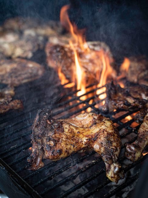 Grilled Chicken on open Flame