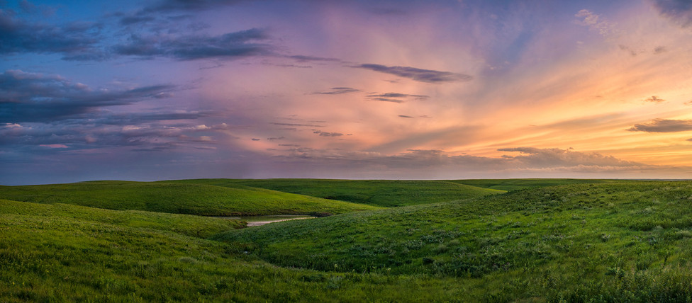 Sunset in the Flint Hills along Skyline Scenc Drive