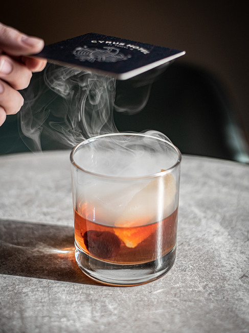 Smoked Old Fashioned at the Cyrus Hotel
