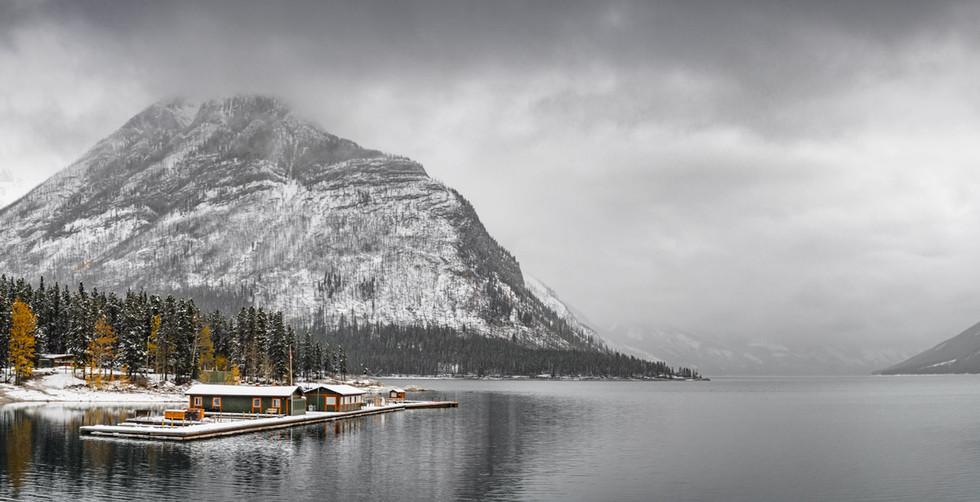 Lake Minnewanka in Banff Canada
