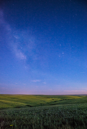 Night in the Flint Hills along Skyline Scenic Drive