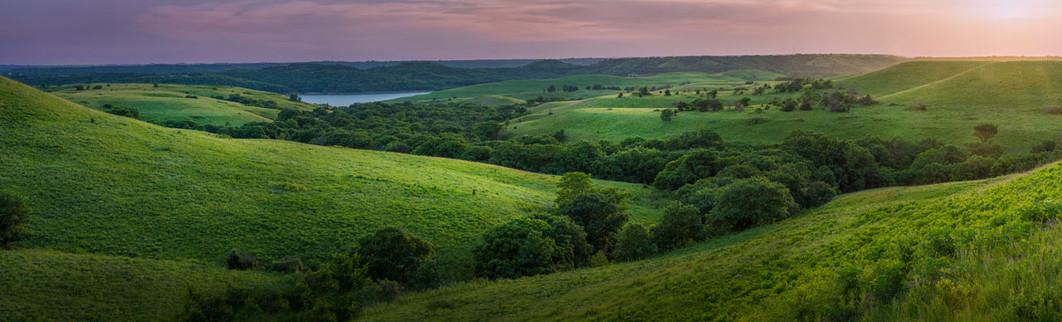 Evening Flint Hills Panoramic