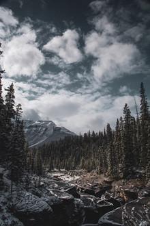 Mistaya Canyon in Banff, Canada
