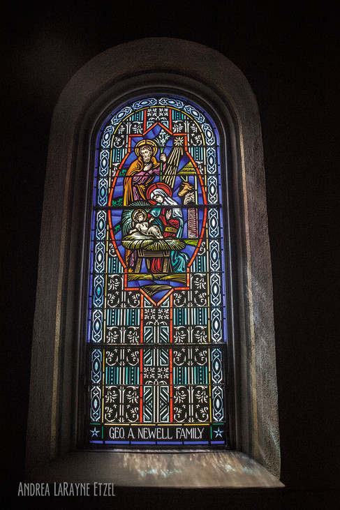 Stain Glass detail at St. Joseph Church