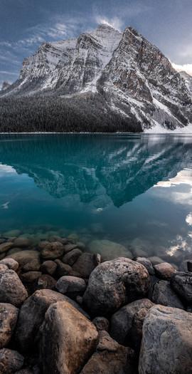 Lake-Louise-Mountain-Vertical-Panoramic-