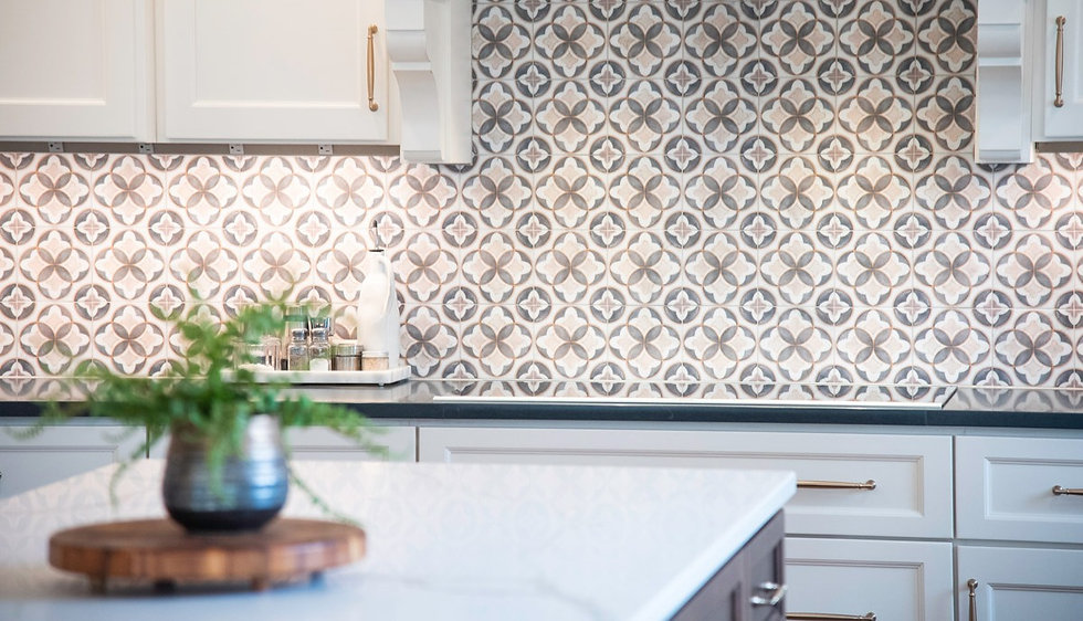 tile wall in kitchen