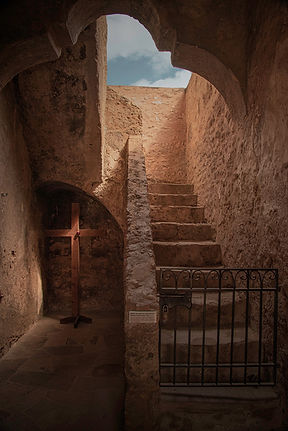 cross-mission-stairwell-san-antonio-photo