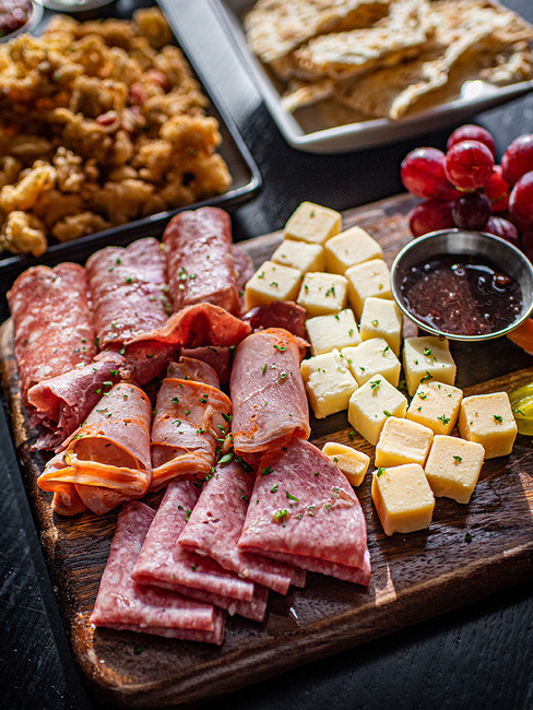 Charcuterie & Cheese board at the Cyrus Hotel