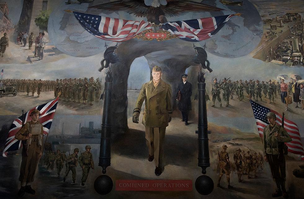 wall mural of general eisenhower
