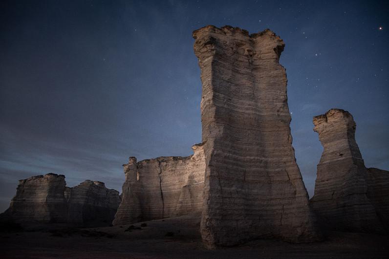 Twilight at Monument Rocks