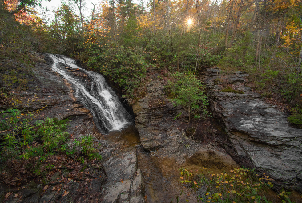 Waterfall Hanging Rock State Park, North Carolina