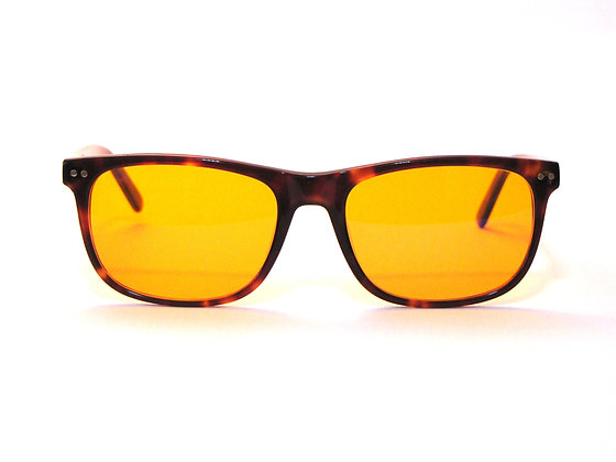 Rama makura red lens blue light glasses front