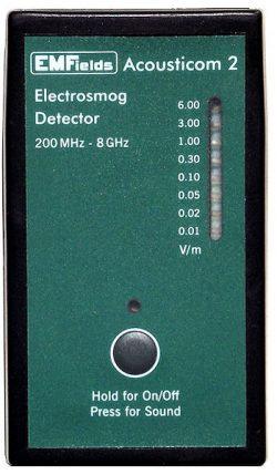 EMF meter EMFields Acousticom 2 Radio Frequency detector