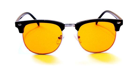 Rama Konohi red lens blue light glasses front