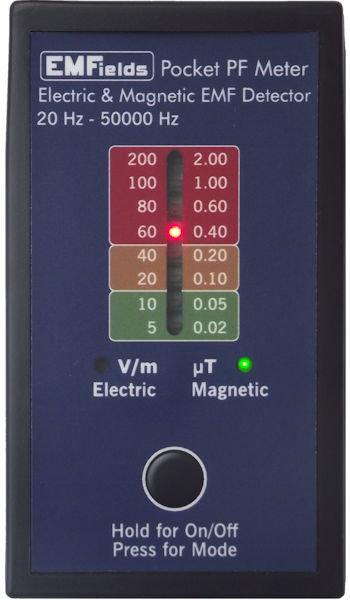 EMF meter EMFields PF5 measurement detector
