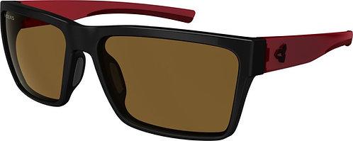 Ryders Eyewear Nelson Black/Dark Red with Brown Lens Sunglasses