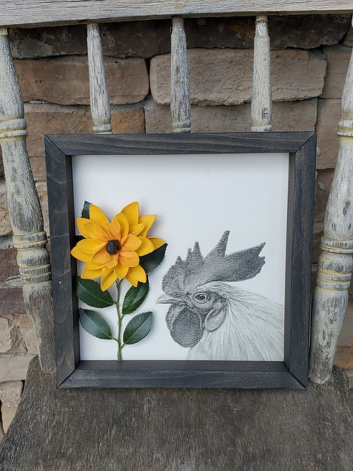 Sunflower Rooster Print