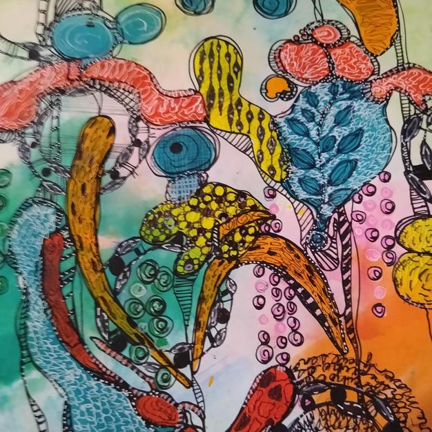 Spring Begins (Meditative Art Series)