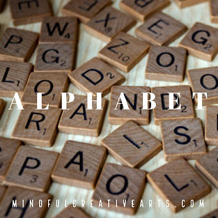 Alphabet Meditative Mark Making