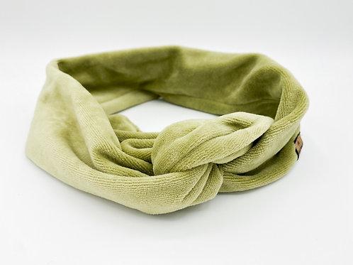 Haarband Draht Samt grün