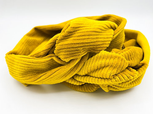 Haarband Draht Cord Senf