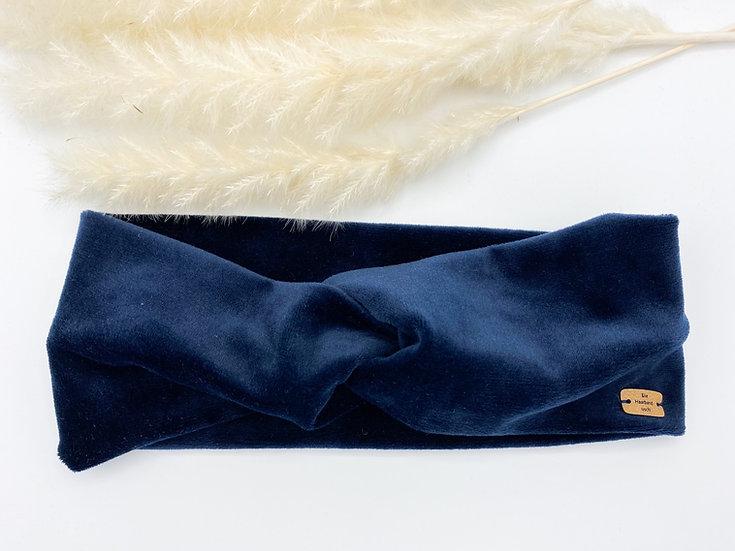 Haarband Samt dunkelblau