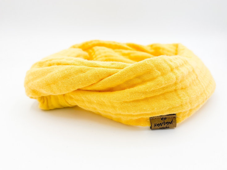 Haarband  Draht Musselin gelb