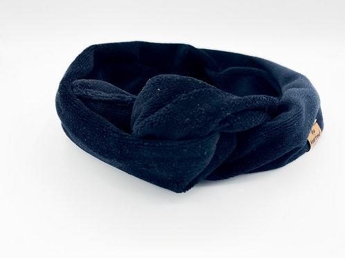 Haarband Draht samt schwarz