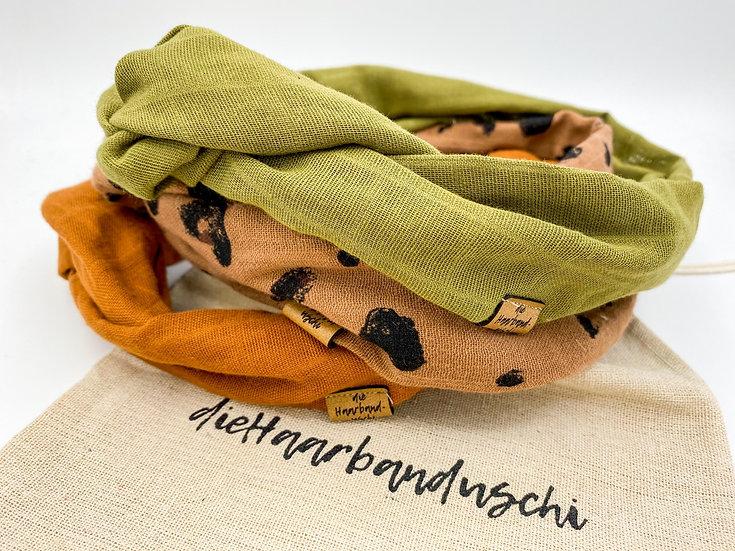 Haarband-Set Draht Naturally mit Säckchen