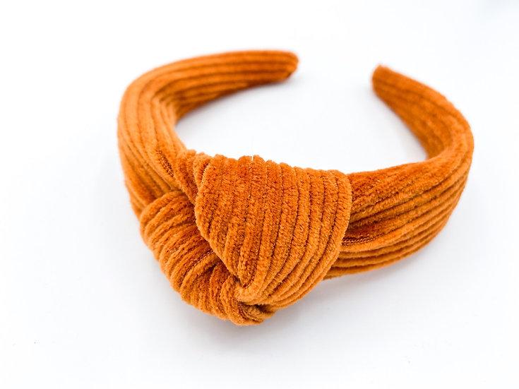 Haarreif Cord Knoten Orange
