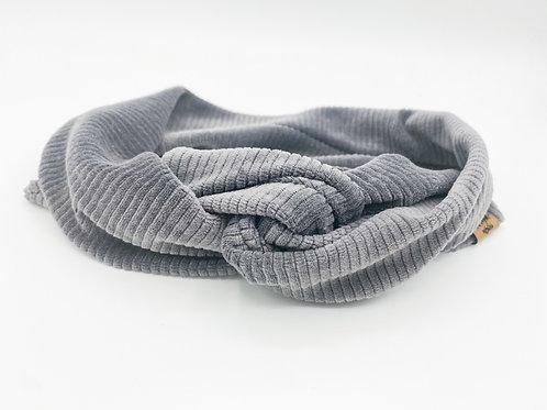 Haarband Draht Cord grau