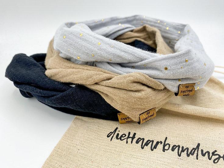 Haarband-Set Draht Basic mit Säckchen