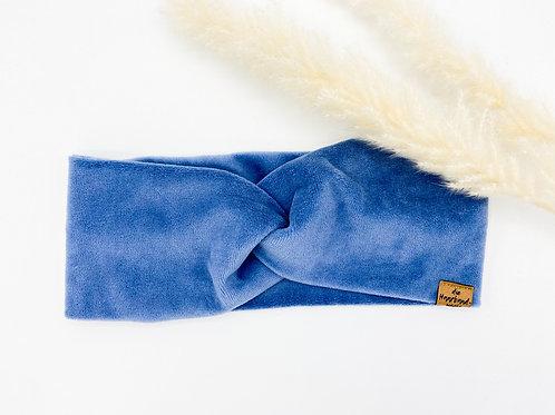 Haarband Basic Samt blau