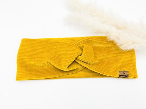 Haarband Basic Cord gelb