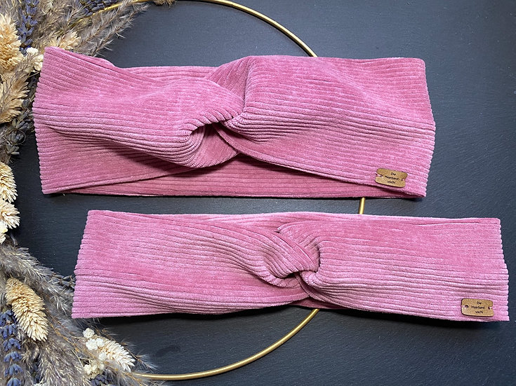 Haarband Cord Pink