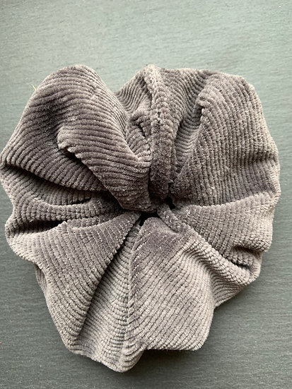 Scrunchie 3er Set grau