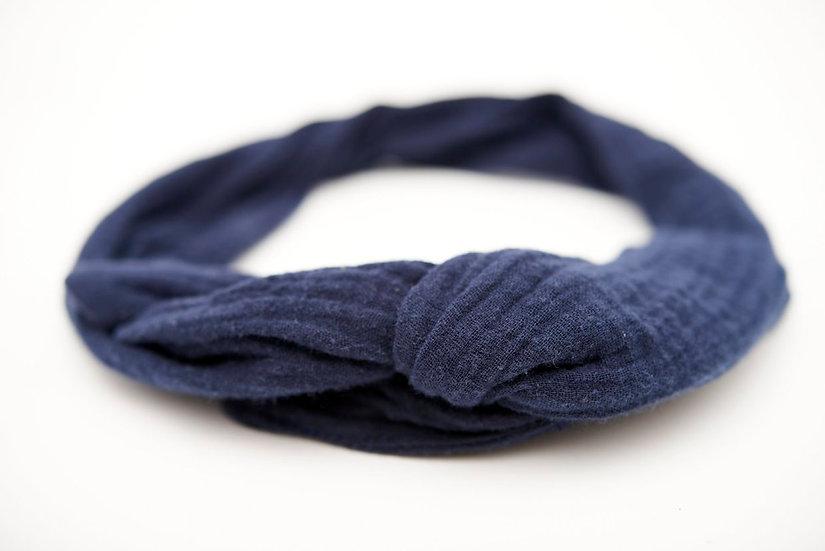 Haarband Draht dunkelblau