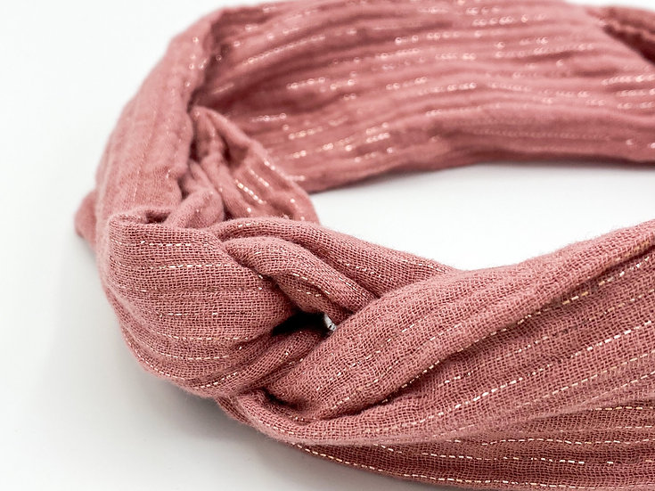 Haarband Draht Glitzer altrosa