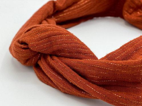Haarband Draht Glitzer rot/orange