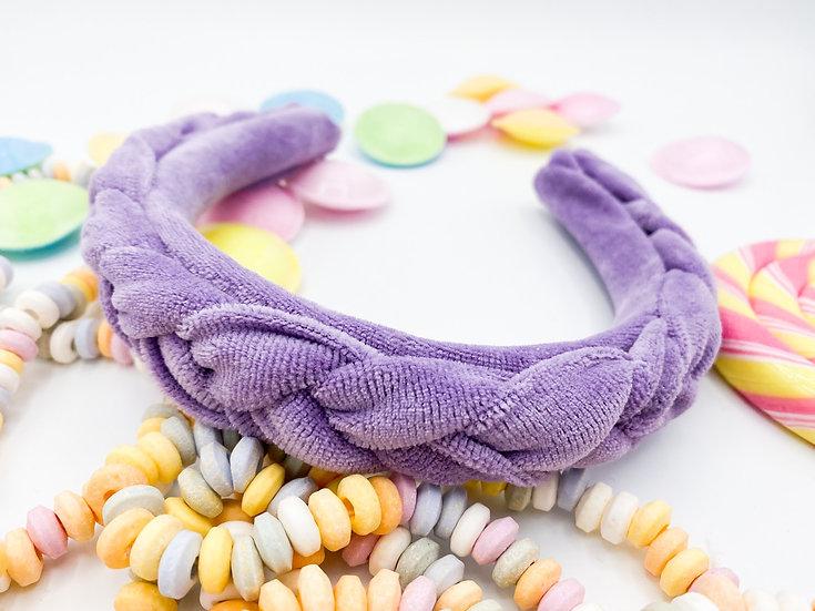 Bonbon Haarreif geflochten lila