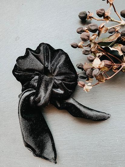 Scrunchie mit Schleife schwarz