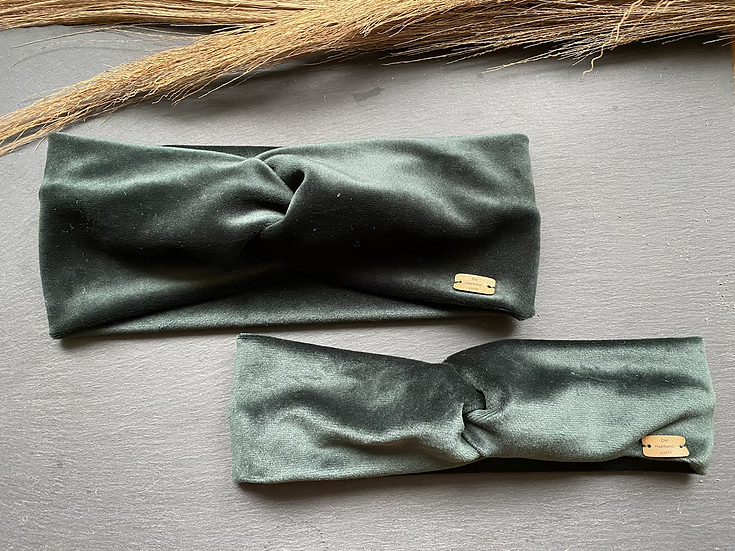 Haarband Samt grün