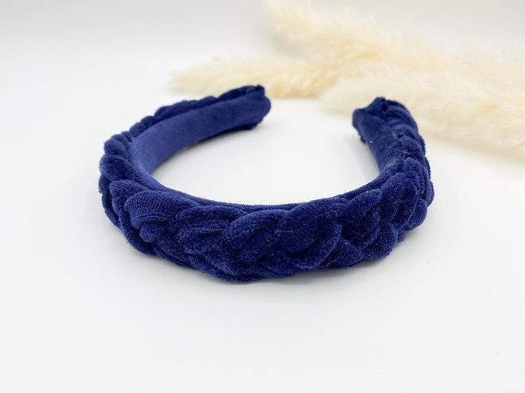 Haarreif geflochten blau