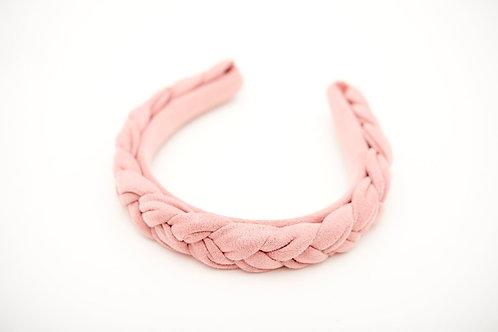 Haarreif wild rosa geflochten