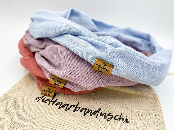 Haarband-Set Draht Pastell mit Säckchen