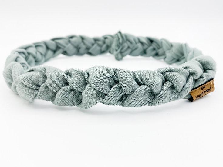 Haarband schmal geflochten blau / grau