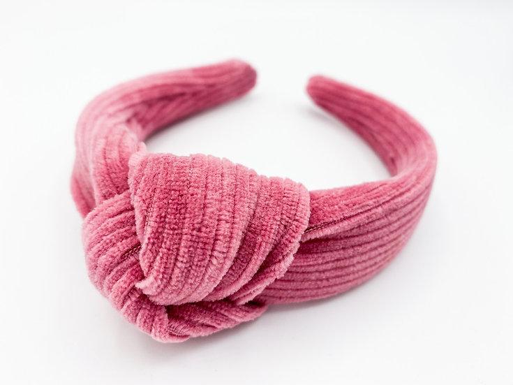 Haarreif Cord Knoten pink