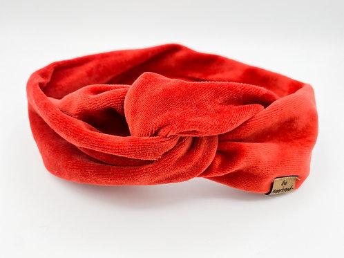 Haarband Draht samt rot/orange